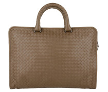 Handtasche - Men's Briefcase Valigia Leggero Intrecciato Brown