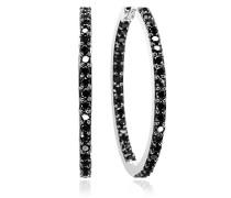 Ohrringe Bovalino Earrings Black Zirconia 925 Sterling Silver