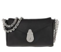 Satchel Bag Soft Lock Shoulderbag Black