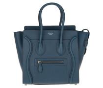 Micro Luggage Handbag Petrol Tote blau
