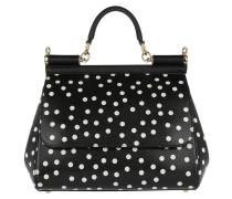 Dauphine Bag White Polka Dots Black Tote weiß