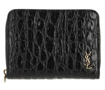 Portemonnaie YSL Wallet Leather Black/Black
