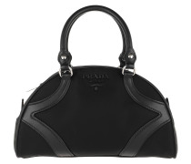 Bowling Bag Nylon Leather Black