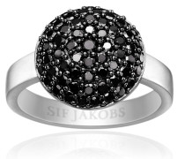 Ring Milan Piccolo Black Zirconia 925 Sterling Silver
