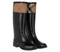 Rainboots Crosshill Housecheck Check Knee High Black Schuhe