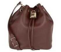 Tasche - Padlock Bucket Bag Posion Brown