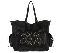 Shopping Bag Tasca Laser Rivet Nero Umhängetasche