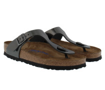 Gizeh BS Regular Fit Sandal Metallic Anthracite Sandalen