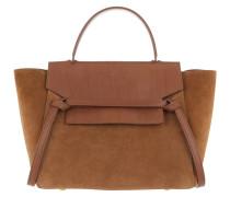 Mini Belt Bag Suede Tan Satchel