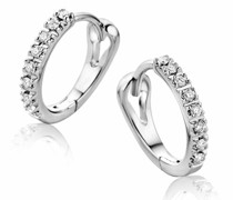 Ohrringe 9KT Diamond Creole Earrings