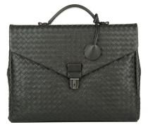 Handtasche - Men's Briefcase Cartella Intrecciato Ardoise