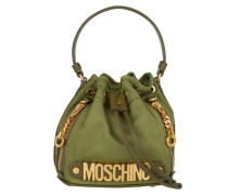 Logo Mini Nylon Bucket Bag Khaki Beuteltasche