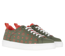 Sneakers Lace Up Visetos Winter Moss
