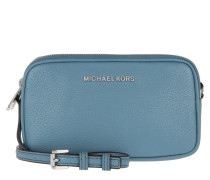 Tasche - Bedford MD Double Zip Crossbody Bag Leather Denim