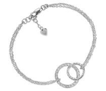 Armband Prato Bracelet White Zirconia Silver
