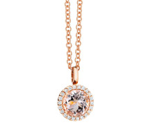 Halskette Charm Espressivo Morganite Faceted Rosegold