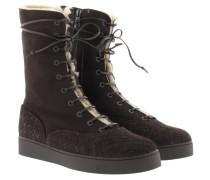 Boots & Booties - Intrecciato Montone New Boots Espresso