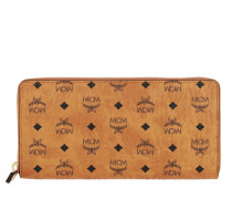 Portemonnaie Large Original Visetos Zip Around Wallet Cognac