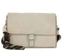 Cliffside Slim Shoulder Bag Suede Sandstone Umhängetasche