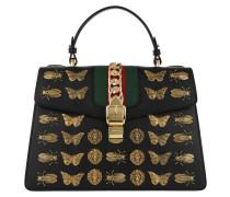 Sylvie Animal Studs Top Handle Bag Black Tote
