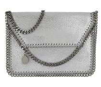 Falabella Umhängetasche Mini Bag Shiny Dot Silver silber