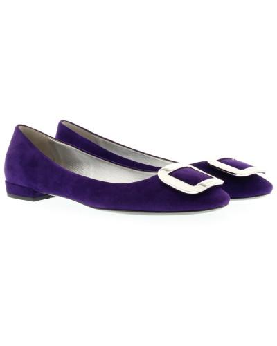 prada damen prada ballerinas suede ballerinas purple in lila ballerinas f r damen reduziert. Black Bedroom Furniture Sets. Home Design Ideas