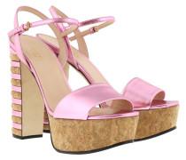 Ankle-Strap Sandal Nappa Silk Sandalen