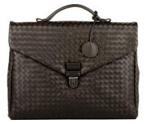 Handtasche - Men's Briefcase Cartella Intrecciato Tutti Espresso