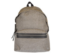 City Glitter Backpack Gold/Silver Rucksack gold