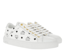 W Lace Up Sneakerss White