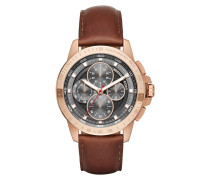 Armbanduhr - Gents Ryker Chronograph Rosegold-Tone Leather Brown