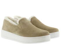 Loafers & Slippers - Women's Suede Fur-Lined Slippers Desert