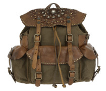 Zaino Laser Backpack Verde Militare Rucksack braun