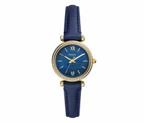 Uhr Carlie Mini Three-Hand Leather Watch