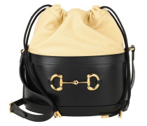 Rucksack Horsebit Bucket Bag Black/Butter