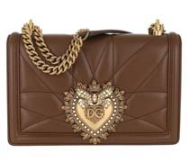 Umhängetasche Devotion Bag Medium Matelassè Leather Chestnut