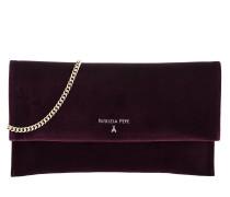 Velvet Chain Crossbody Bag Regimental Red Tasche