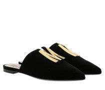 Schuhe Mules Leather Black