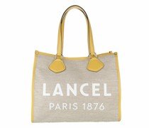 Tote Summer Jute Canvas And Smooth Leather Large