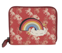 Portemonnaie Canvas Rainbow Small Zop Wallet Red