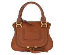 Satchel Bag Marcie Crossbody Grained Calfskin Tan