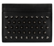 Kios Card Holder Calf Spikes Black/ Gun Metal Portemonnaie
