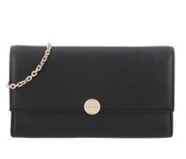 Umhängetasche Olivia Chain Wallet Leather Noir