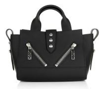 Calf Skin Mini Handbag Black Bowling Bags