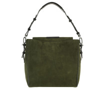 Thirtyfive Cube Bag Luxury Suede Pine Hobo