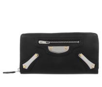 Balenciaga Kleinleder - Portefeuille Metal Plate Veau Jour Brilliant Noir - in schwarz - Kleinleder für Damen