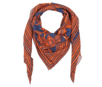 Schal - Giraffe Scarf Orange/Blue