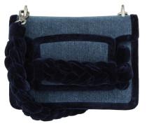 Miu Tresse Denim Velvet Bag Blu/Inchiostro Satchel