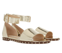 Rockstud Soul Flat Ankle Strap Sandal Platino Sandalen