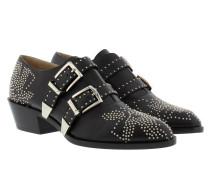 Bootie Nappa Black & Silver Schuhe